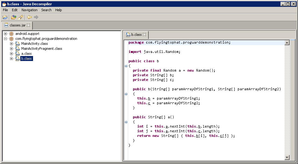 Java Decompiler screenshot